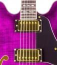 Branson Semi-hollow Body Guitar – Purple
