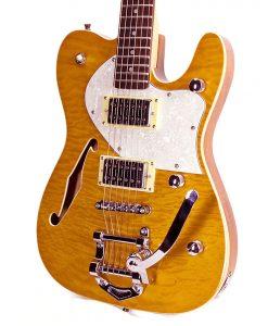 Branson T-type Guitar Hollow-body – Orange