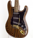 Branson S-type Guitar All-Zebrawood