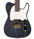Branson T-type Guitar Trans Black with Gold